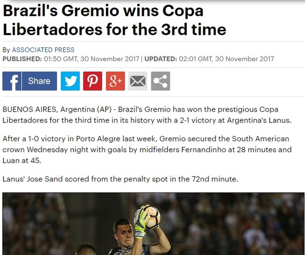 Daily Mail, da Inglaterra (Foto: Reprodução)
