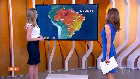Previsão de chuva e umidade em grande parte do país nesta terça-feira (13)