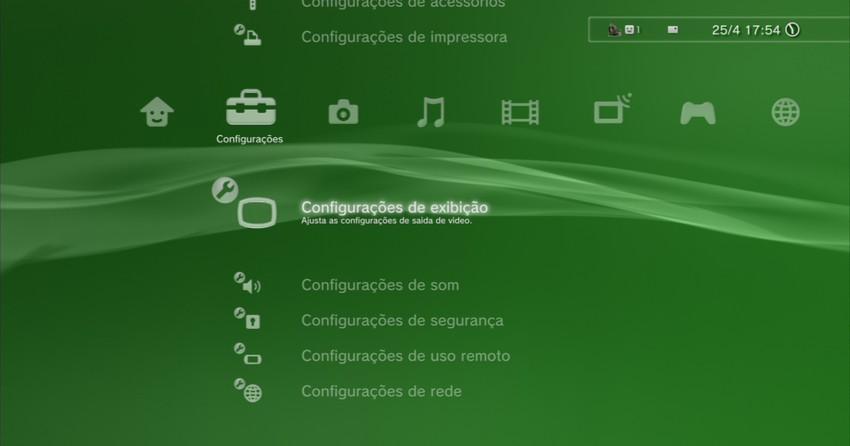 Saiba como configurar seu PlayStation 3 em TVs Standard e HDTV