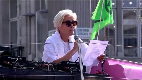 Manifestações contra mudanças climáticas se espalham por Londres