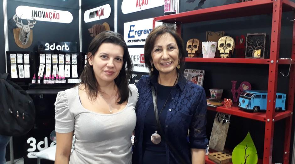 Juliana Ciello e Jussara Kanaiama, sócias da 3DArt (Foto: Editora Globo)