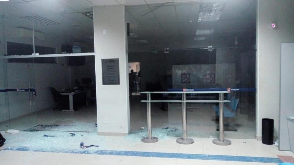Agência bancária fica destruída após ataque de assaltantes no Pará. — Foto: Reprodução