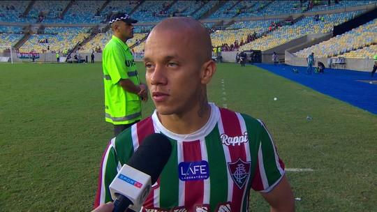 """Marcos Junior diz que não sabe se fica no Flu: """"Se eu for embora, sou muito grato"""""""