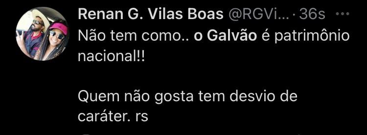 Reação com a narração de Galvão Bueno (Foto: Reprodução)