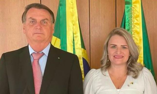 Graciela Nienov com Bolsonaro
