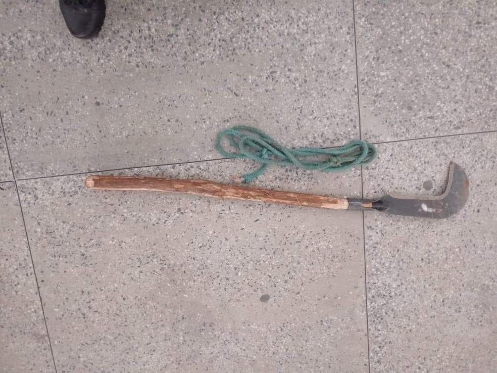 Arma usada no crime foi apreendida pela polícia. — Foto: Arquivo pessoal