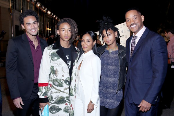 Jada Pinkett Smith, Will Smith e seus filhos (Foto: Getty Images)