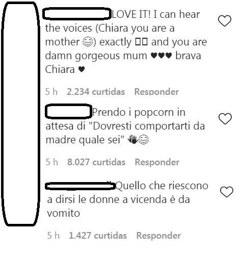 Postagens no Instagram de  Chiara Ferragni  (Foto: Reprodução Instagram)