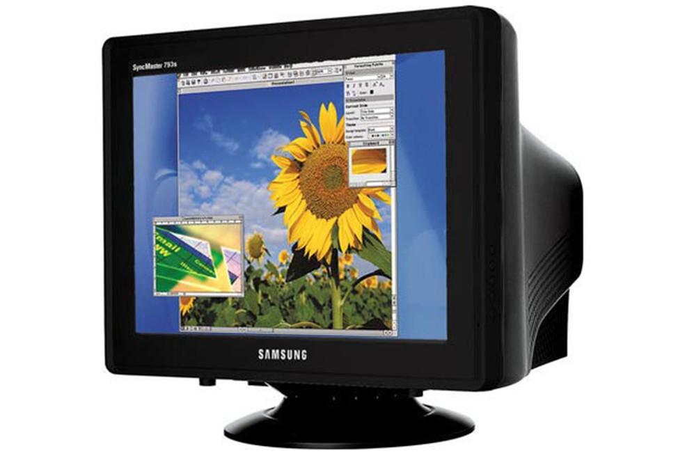 As capas eram utilizadas para preservar monitores como este modelo da Samsung — Foto: Divulgação/Samsung