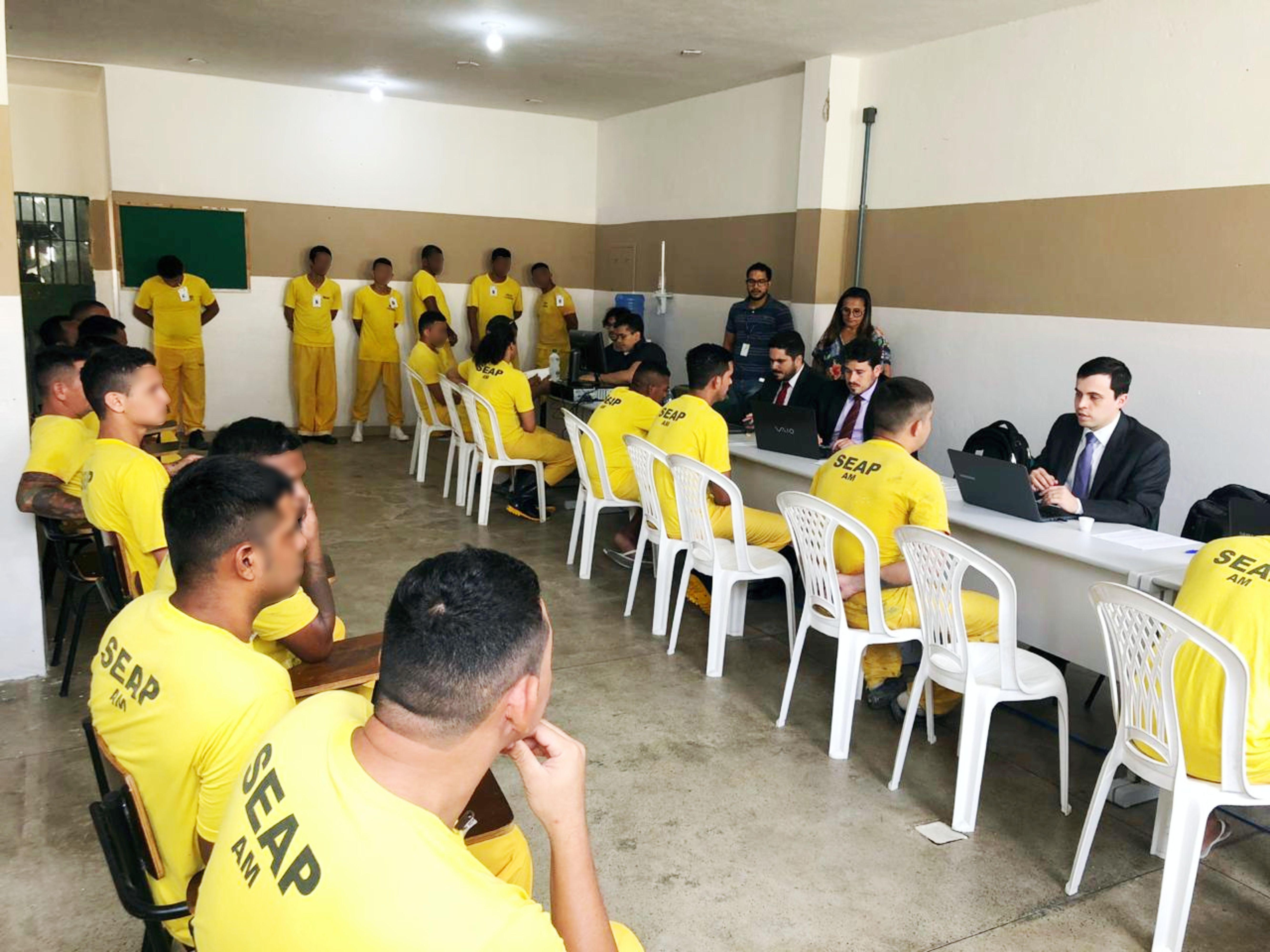 Compaj recebe mutirão jurídico da Vara de Execuções Penais, no AM - Notícias - Plantão Diário