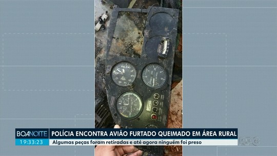Polícia encontra avião que tinha sido furtado de propriedade rural em distrito de Maringá