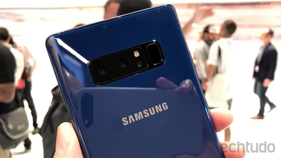 Galaxy Note 8 é o primeiro smartphone da Samsung com câmera dupla (Foto: Thássius Veloso/TechTudo)