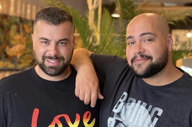 Tiago Abravanel e o marido, Fernando Poli (Foto: Reprodução)