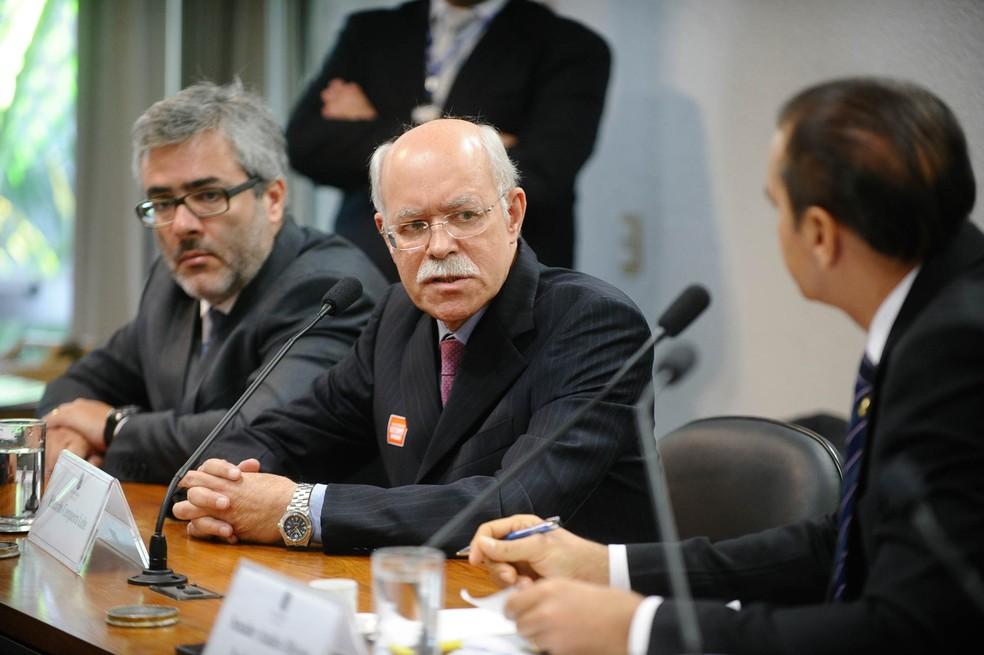 O auditor da Receita Federal Eduardo Cerqueira Leite, réu na operação Zelotes, em foto de agosto de 2015 durante oitiva no Senado Federal (Foto: Marcos Oliveira/Agência Senado/Arquivo)