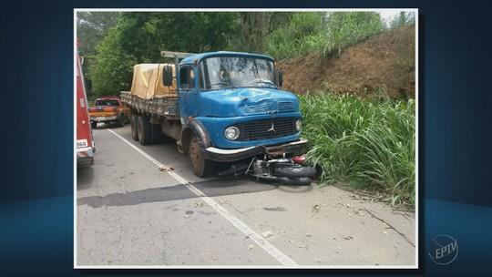 Motociclista morre após bater contra caminhão na BR-491
