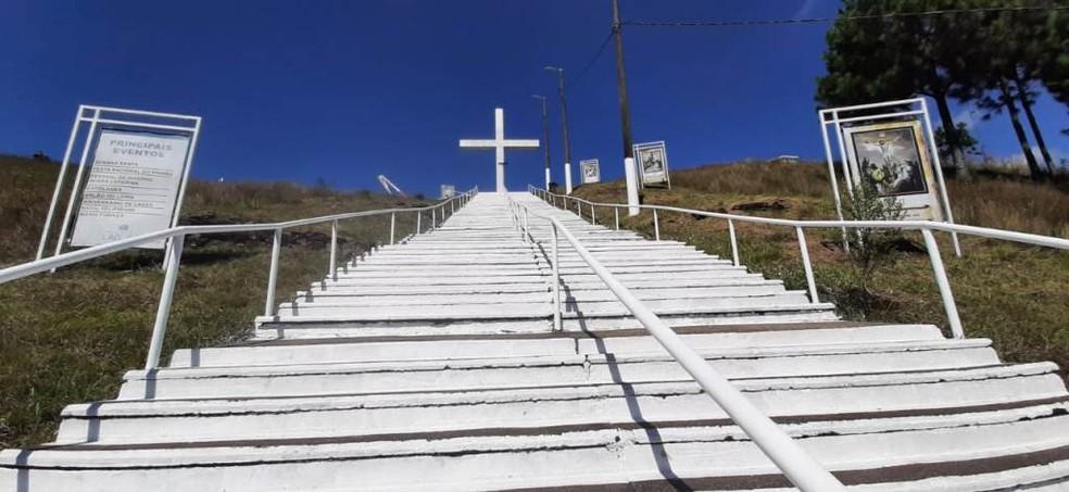 Morro da Cruz em Lages, na Serra catarinense — Foto: Prefeitura de Lages/Divulgação