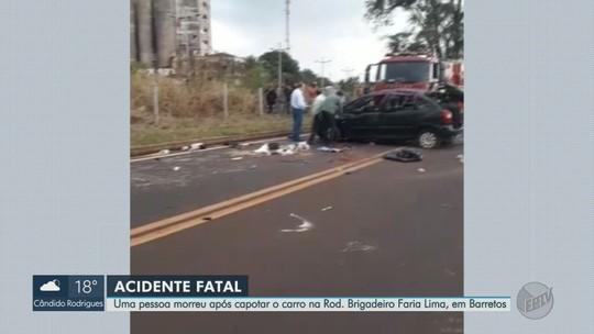 Acidente deixa 1 morto e 4 feridos na Rodovia Brigadeiro Faria Lima em Barretos, SP