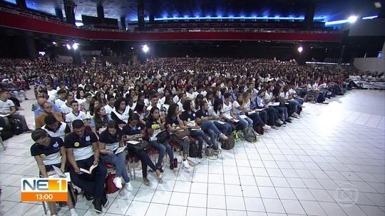 Aulão do Projeto Educação reúne mais de 5 mil estudantes de 99 municípios de Pernambuco