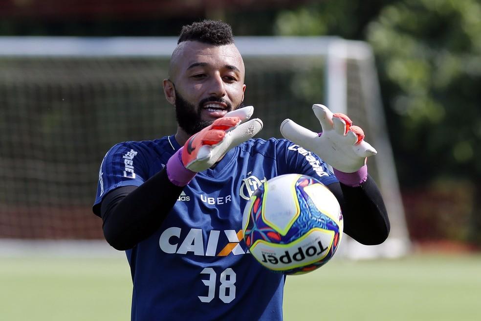Alex Muralha conta com apoio irrestrito do grupo, sobretudo antes de final  (Foto: Gilvan de Souza/Flamengo)