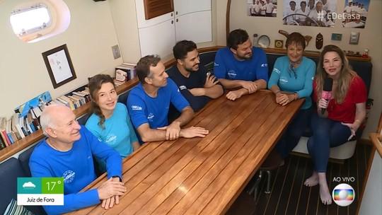 Família Schurmann embarca para mais uma volta ao mundo com mini-horta a bordo