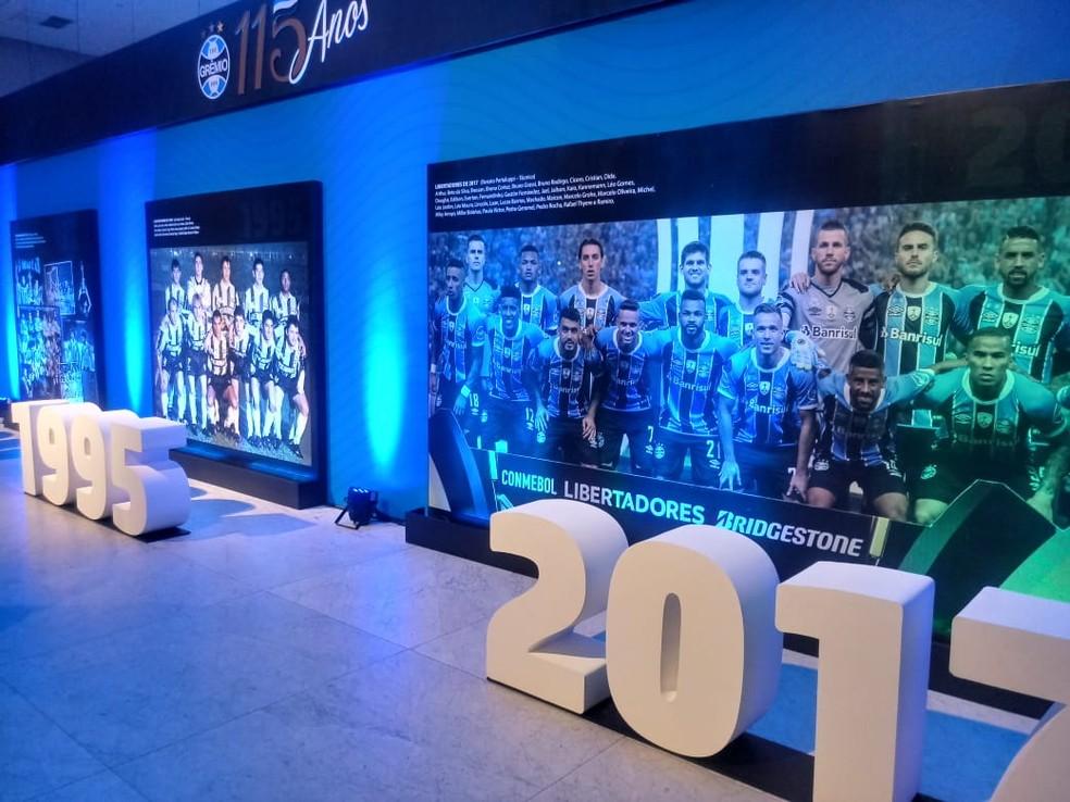 Festa pelos 115 anos de aniversário do Grêmio — Foto: Julio Cesar Santos