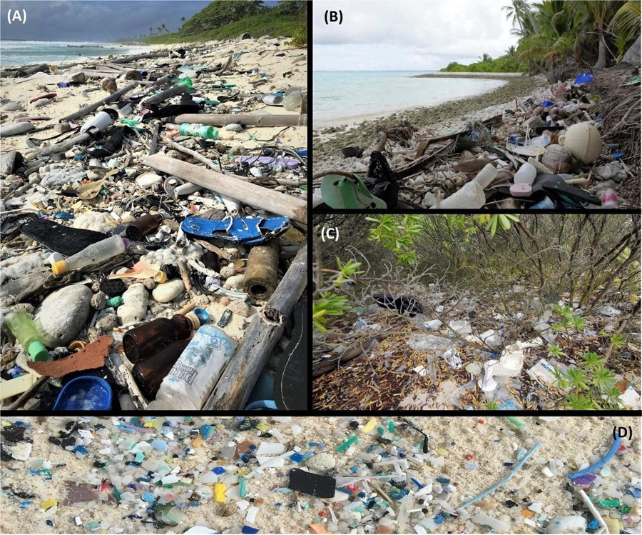 414 milhões de pedaços de plástico foram encontrados em ilha no Oceano Índico