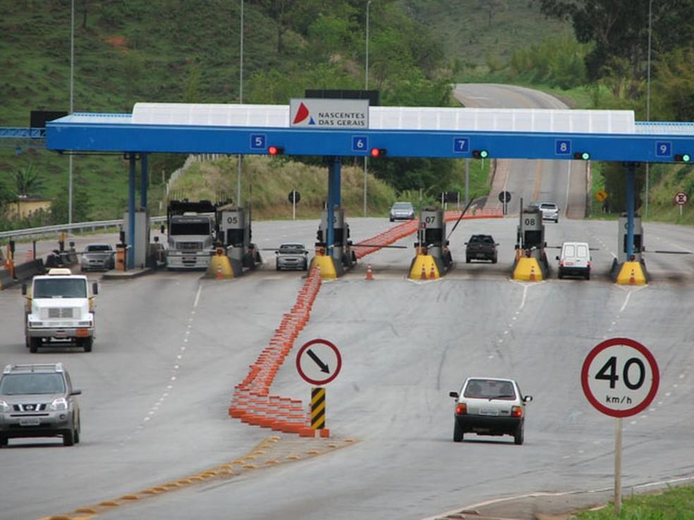Pedágio na MG-050 é alvo de reclamações entre usuários da rodovia (Foto:  Nascentes das Gerais/Divulgação)
