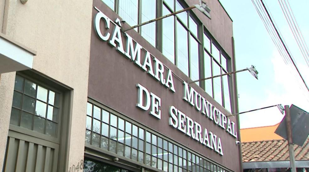 Câmara de Serrana (SP) (Foto: Reprodução/EPTV)