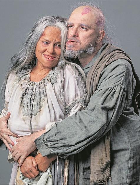 Vivianne Pasmanter e Guilherme Piva em 'Nos tempos do imperador' (Foto: TV Globo/Paulo Belote)