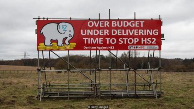 O desenvolvimento da rede ferroviária de alta velocidade do Reino Unido tem sido alvo de críticas por causa do gasto (Foto: Getty Images via BBC)