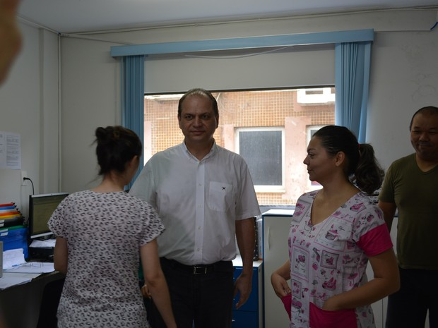 Ministro da Saúde Ricardo Barros em Rondônia (Foto: Larissa Zuim/G1)