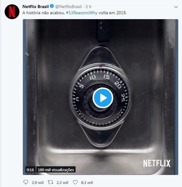 Tweet feito pela Netflix em seu perfil oficial  (Foto: Reprodução )