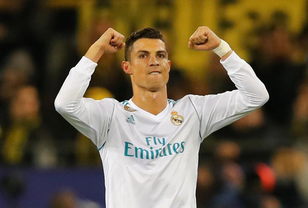 Cristiano Ronaldo comemora gol pelo Real Madrid sobre o Borussia Dortmund (Foto: Reuters)