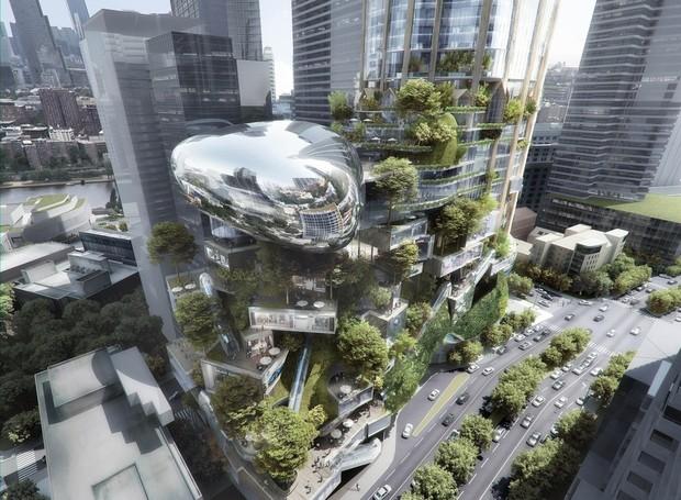 O projeto de AD e Elenberg Fraser possui uma estrutura nada convencional (Foto: MAD + Elenberg Fraser/ Reprodução)