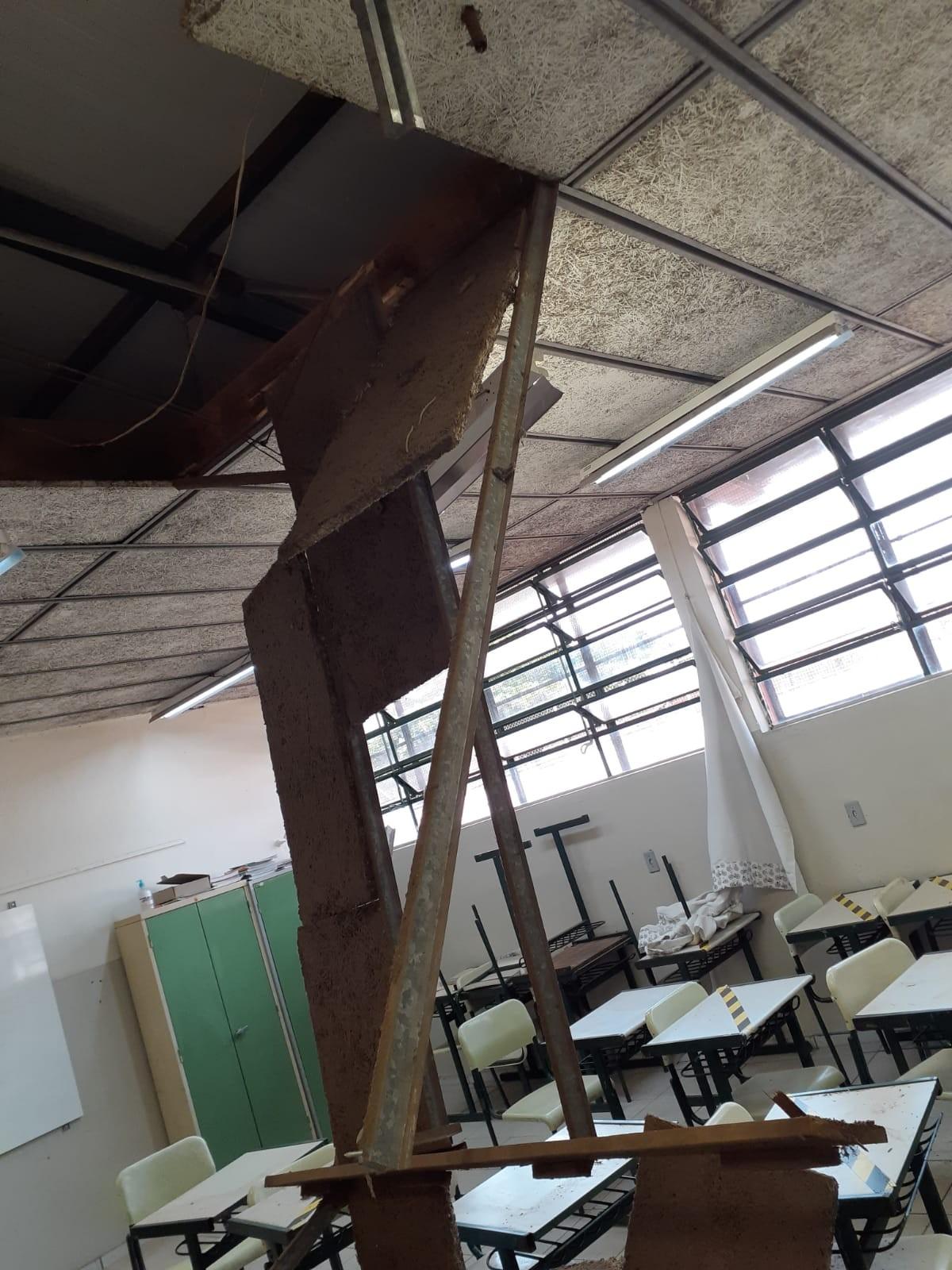 Três crianças ficam feridas após queda de forro de sala de aula em escola estadual de Bauru