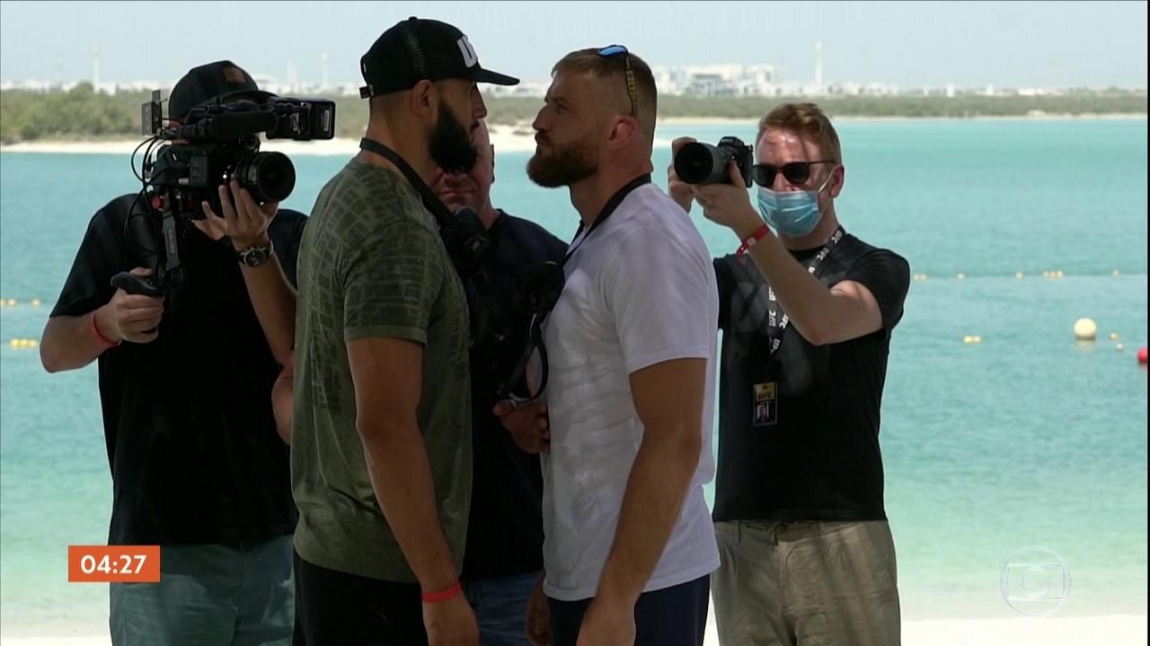 Provocações entre Adesanya e Borrachinha marcam entrevista coletiva do UFC em Abu Dhabi