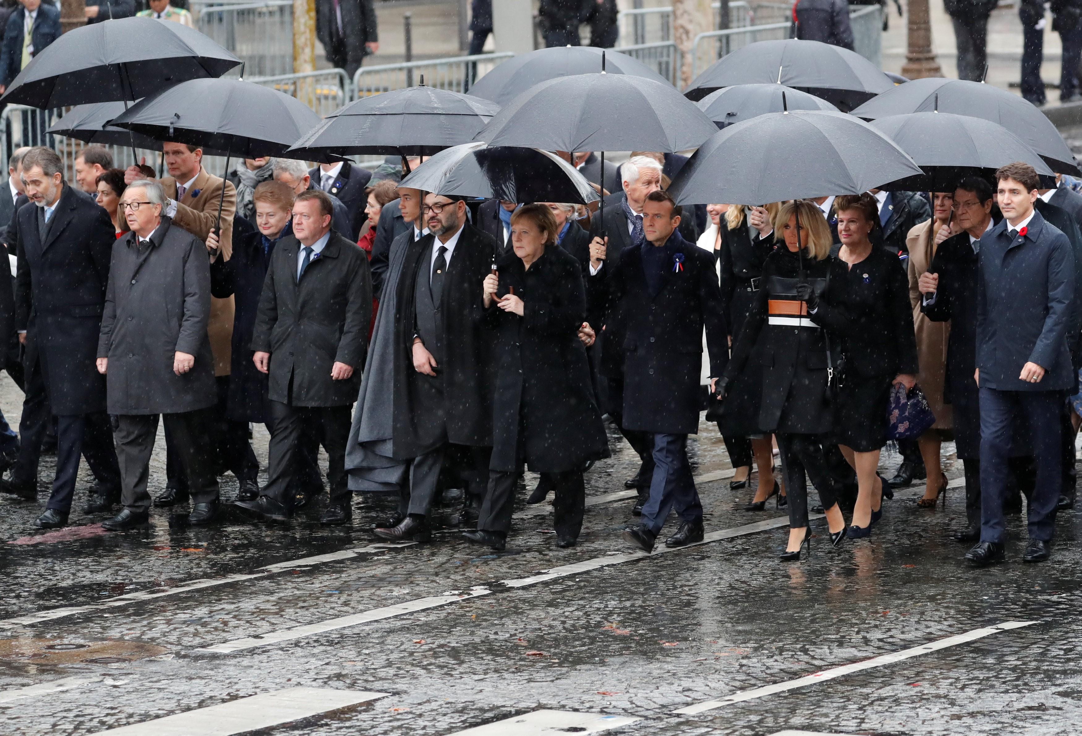 Líderes mundiais celebram em Paris os 100 anos do fim da Primeira Guerra Mundial