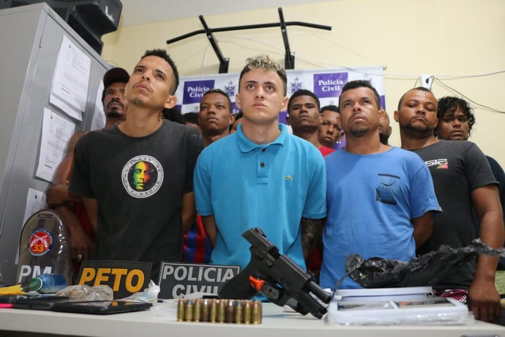 Operação prendeu 14 homens em Valença (Foto: Alberto Maraux/SSP-BA)