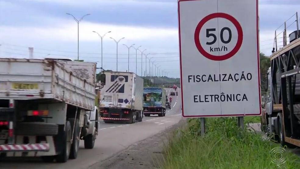Rodovias paraibanas são monitoradas em 71 pontos, de acordo com o Dnit — Foto: Reprodução/TV Paraíba