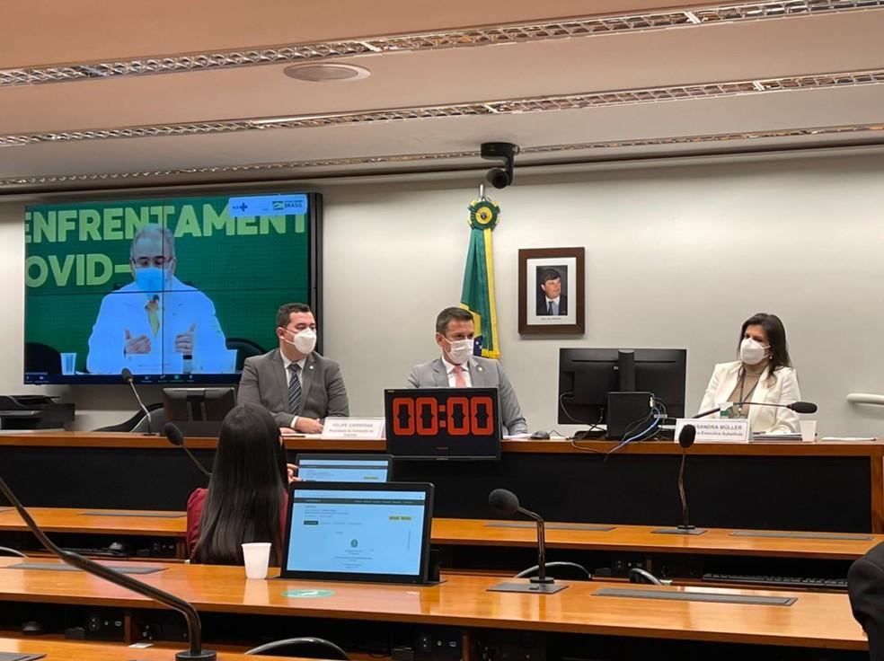 Comissão do Esporte, Câmara dos Deputados, Vacinação, atletas, brasileiros, Olimpíada — Foto: Lucas Magalhães/ge.globo