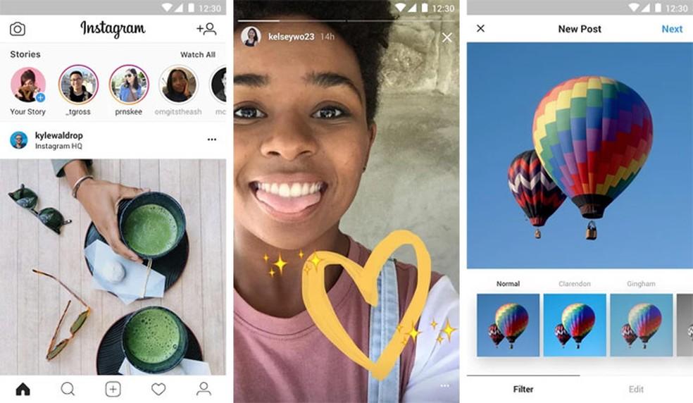 Instagram Lite tem a mesma aparência do app normal (Foto: Reprodução/Google Play Store)