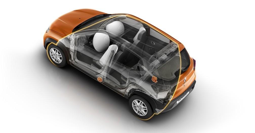Kwid é o 1º compacto a ter 4 airbags de série (Foto: Divulgação)