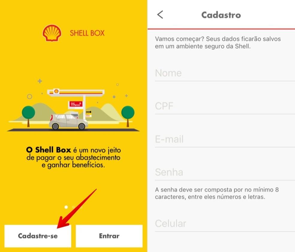 2125caac4824f ... Faça login ou cadastre-se no Shell Box — Foto: Reprodução/Helito  Beggiora