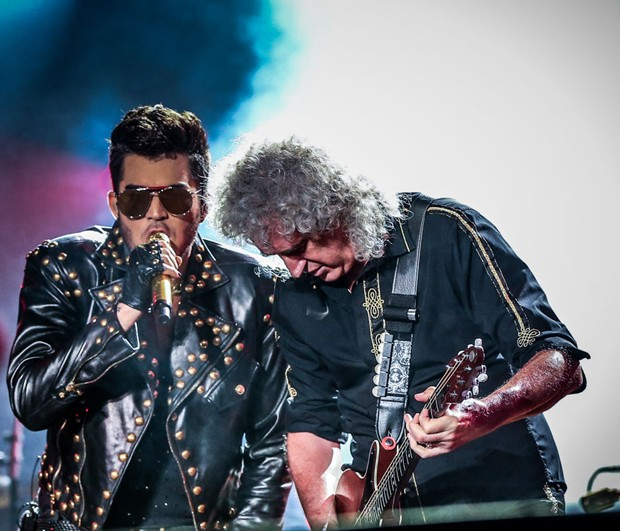 Adam Lambert e Queen no Rock in Rio (Foto: Francisco Cepeda / AgNews)