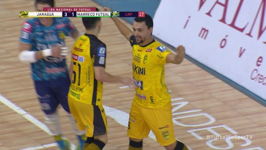 Os gols de Jaraguá 5 x 2 Marreco Futsal pela pela Liga Nacional de Futsal