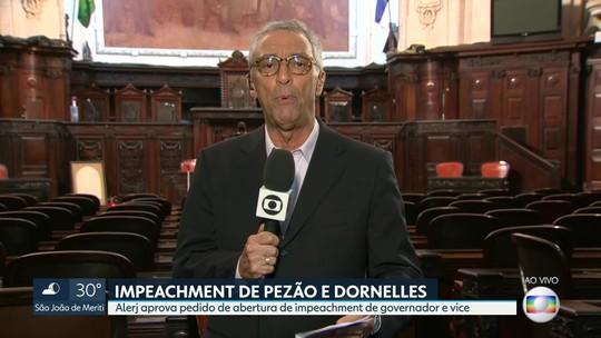 Mesa Diretora da Alerj aprova pedido de abertura de impeachmet contra Pezão e Dornelles
