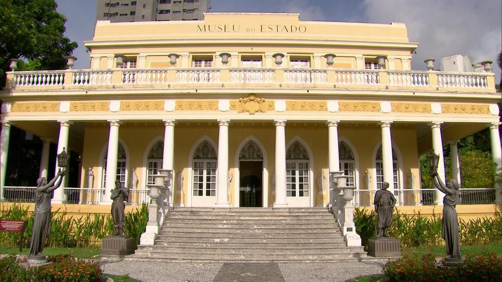 Museu do Estado foi construído no século 19 — Foto: Reprodução/TV Globo