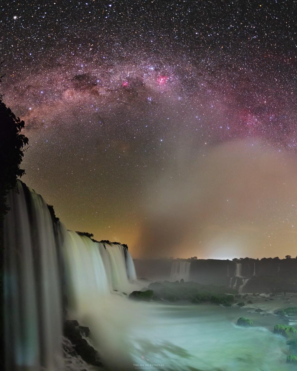 Imagens noturas revelam uma paisagem diferente no Parque Nacional do Iguaçu — Foto: Victor Lima/Divulgação