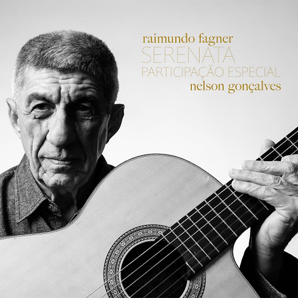 Capa do single 'Serenata', de Fagner com Nelson Gonçalves — Foto: Jorge Bispo