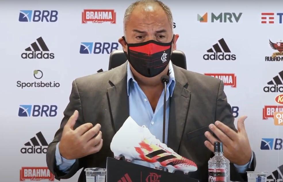 Marcos Braz, vice de futebol do Flamengo — Foto: Reprodução